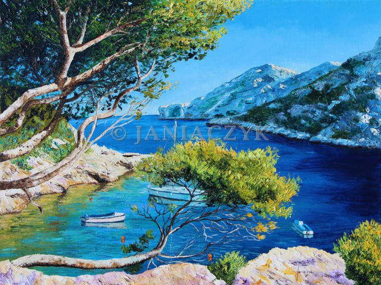 Cove of Morgiou 65x50 cm