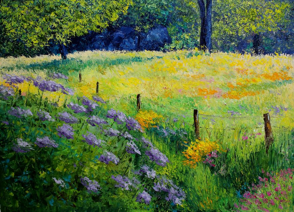 Golden Meadow 50x70 cm