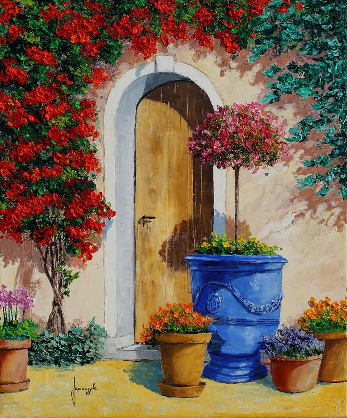 Provencal potteries painting