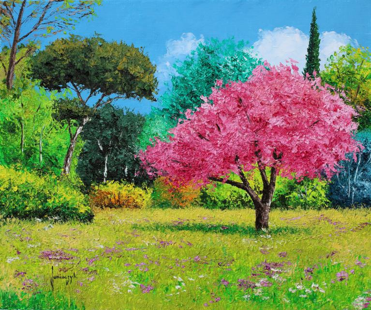 Sunny spring day painting 46x55 cm