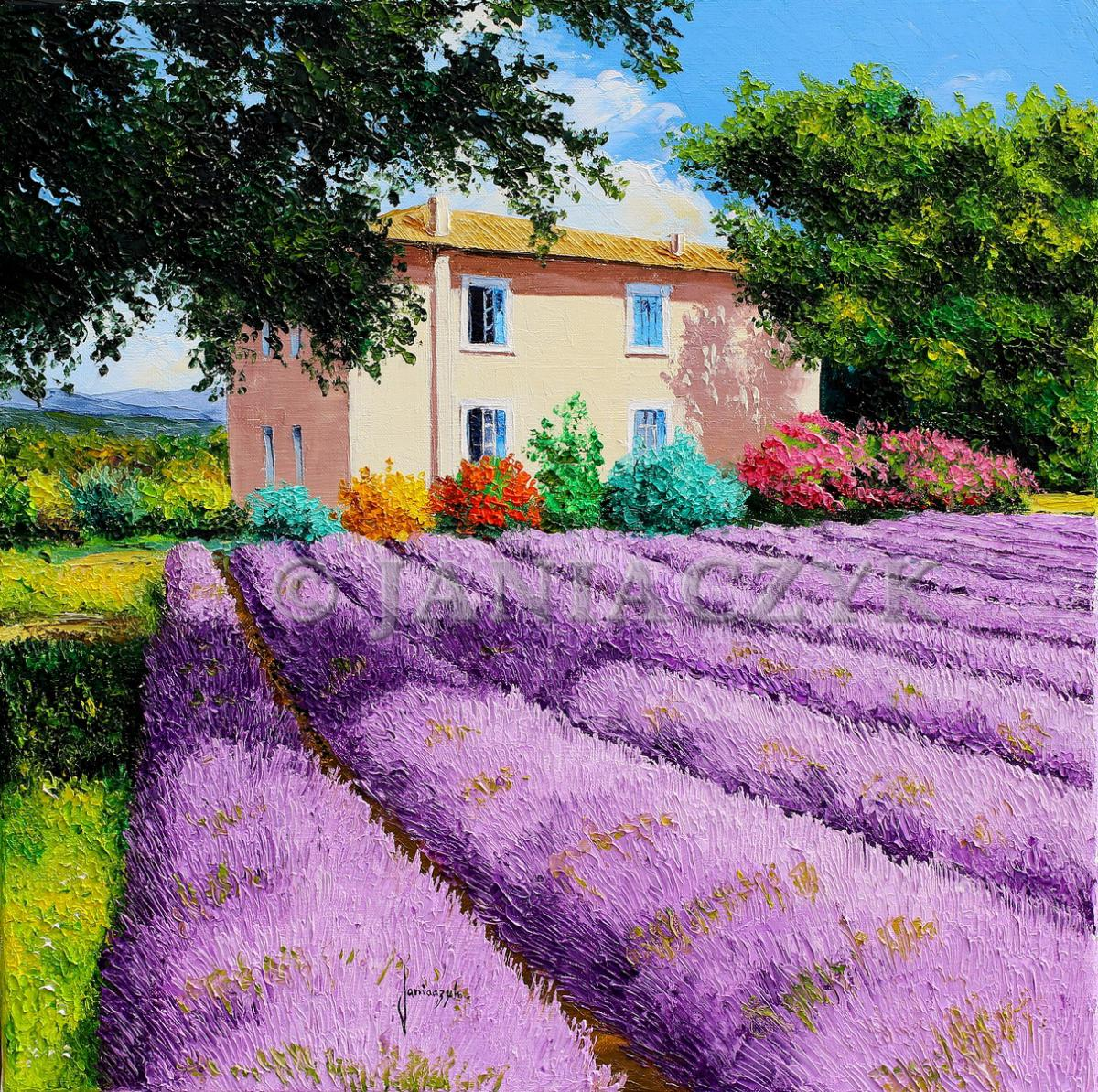 "Return to the painting page ""lavender fields"""